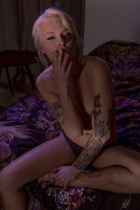 Smoking girl erotic sensual art 003